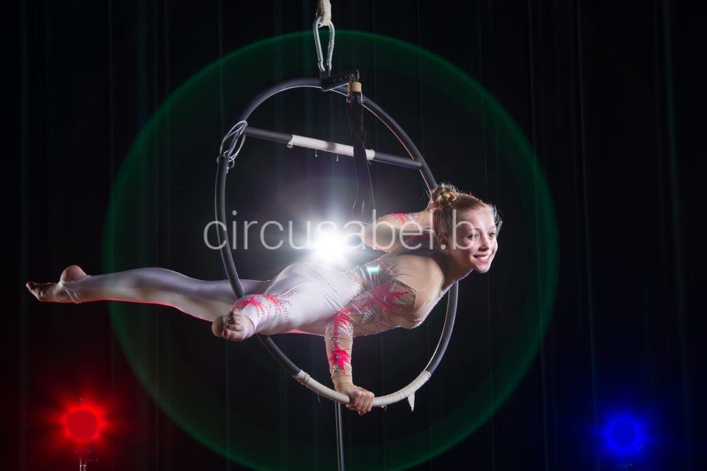 1.Воздушная гимнастка на кольце